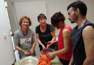 Chantier - cuisine pour spectacle à Grain De Sel