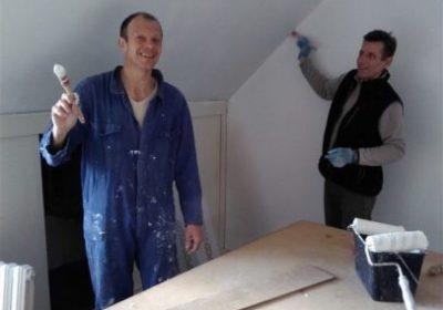 chantier-peinture logement d'insertion